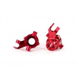 Traxxas těhlice přední hliníková červená (pár)