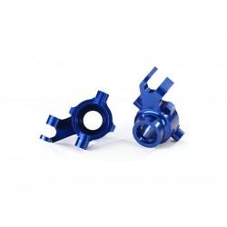 Traxxas těhlice přední hliníková modrá (pár)
