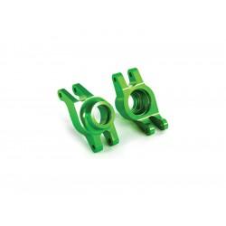 Traxxas těhlice zadní hliníková zelená (pár)