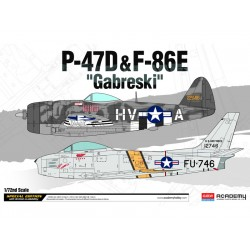 Academy P-47D a F-86E Gabreski (1:72)