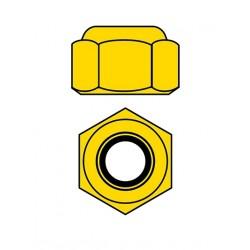 Hliníkové Nylon STOPmatky M4 - zlaté - 10 ks.