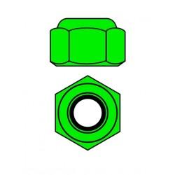 Hliníkové Nylon STOPmatky M4 - zelené - 10 ks.