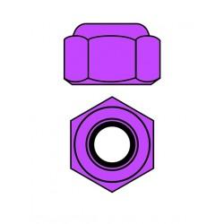 Hliníkové Nylon STOPmatky M4 - fialová - 10 ks.