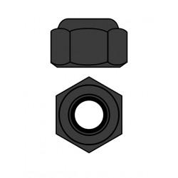 Hliníkové Nylon STOPmatky M4 - šedé - 10 ks.