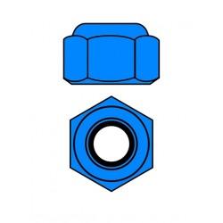 Hliníkové Nylon STOPmatky M4 - modré - 10 ks.