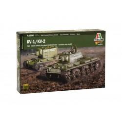 Italeri tank KV1 / KV2 vč. tankisty (1:56)