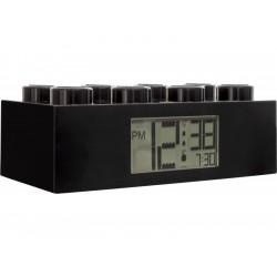 LEGO hodiny s budíkem Brick černé