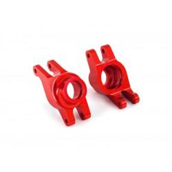 Traxxas těhlice zadní hliníková červená (pár)