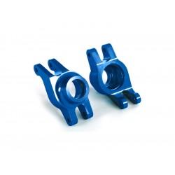 Traxxas těhlice zadní hliníková modrá (pár)