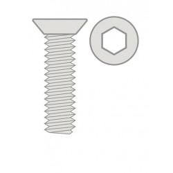 Titanium šroub s zápustnou hlavou M4 x 8mm - 6 Ks.