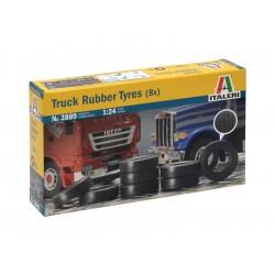 Italeri doplňky - TRUCK RUBBER TYRES (8x) (1:24)