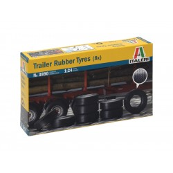 Italeri doplňky - TRAILER RUBBER TYRES (8x) (1:24)