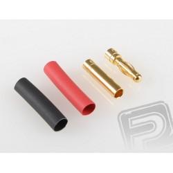 7946/10 G4.0mm STD konek.zlatý 10 párů (630)