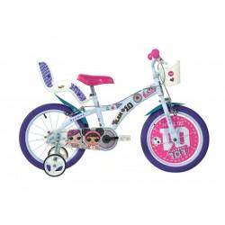 """DINO Bikes - Dětské kolo 16"""" LOL Surprise se sedačkou pro..."""
