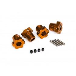 Traxxas náboj kola hliníkový oranžový 17mm (4)