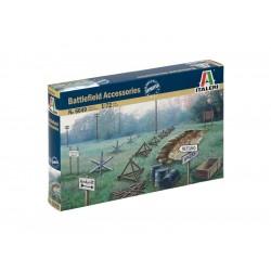 Italeri diorama - WWII BATTLEFIELD ACCESSORIES (1:72)