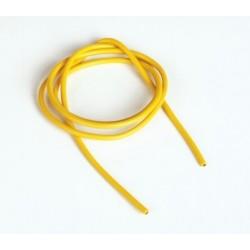 Silikonový kabel 2,6qmm, 13AWG, 1metr, žlutý