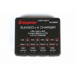 USB nabíječka SLIM 400x4 1S LiPo 4,2V 400mA