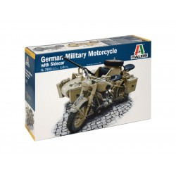Italeri German Military Motorcycle with Sidecar (1:9)