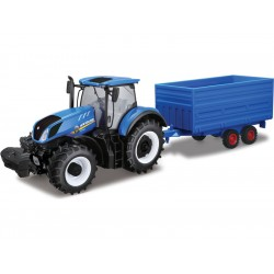 Bburago New Holland T7.315 1:32 s vlečkou