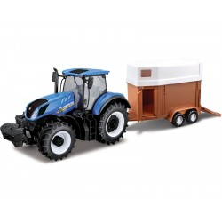Bburago New Holland T7.315 1:32 s přívěsem