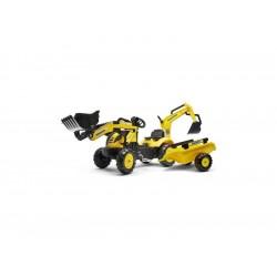 FALK - Šlapací traktor Komatsu s nakladačem, rypadlem a...