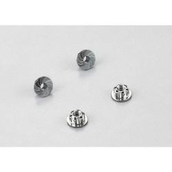Killerbody hliníkové matice kol šedé (4)