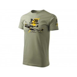 Antonio pánské tričko P-38 Lightning M