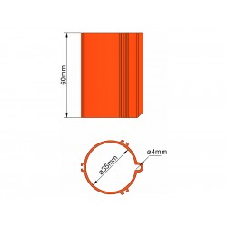 Klima Základna 35mm 3-stabilizátory oranžová
