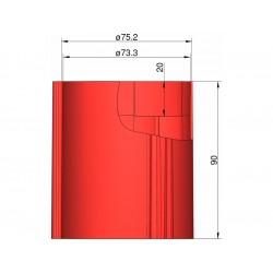 Klima Základna 75mm 3-stabilizátory červená
