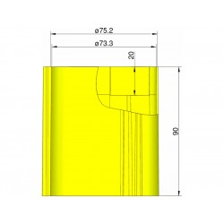 Klima Základna 75mm 3-stabilizátory žlutá