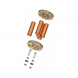 Klima Držák motoru 75mm / 5x 18mm
