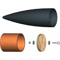 Klima Špice kompletní 75mm černá