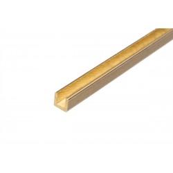 Mosazný U profil 2x2x330mm 5ks
