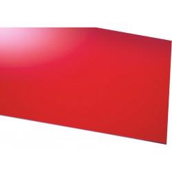 Krick Deska ABS červená 1.0x600x200mm