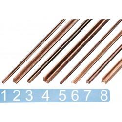 Krick Lišta ořech profil T 4x4x500(2)
