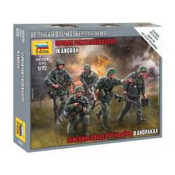 Zvezda figurky - German Panzergrenadiers WWII (1:72)