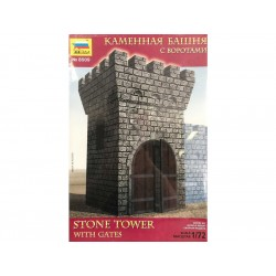 Zvezda diorama - kamenná věž s bránou