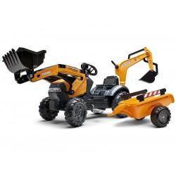 FALK - Šlapací traktor Case IH Beckhoe s nakladačem,...