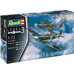 Revell Messerschmitt Bf 109G-10, Spitfire Mk.V (1:72)