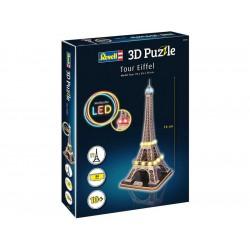 Revell 3D Puzzle - Eiffelova věž s LED osvětlením (78cm)