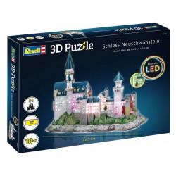 Revell 3D Puzzle - Neuschwanstein s LED osvětlením (38cm)