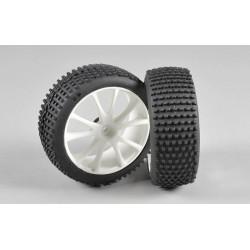 Mini Pin EVO S směs gumy nalepené na bílých diskách, 2ks.