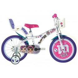"""DINO Bikes - Dětské kolo 14"""" LOL Surprise"""
