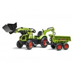 FALK - Šlapací traktor Claas Backhoe s nakladačem,...