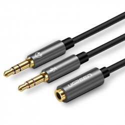 UGREEN 3.5mm Female to 2 male audio cable černý