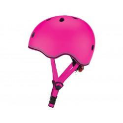Globber - Dětská přilba Go Up Lights Neon Pink XXS/XS