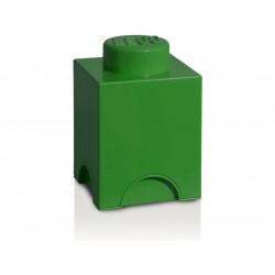 LEGO úložný box 125x125x180mm - tmavě zelený