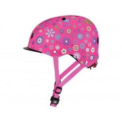 Globber - Dětská přilba Elite Lights Deep Pink Flower XS/S