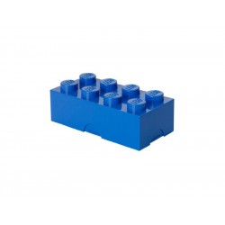 LEGO box na svačinu 100x200x75mm - modrý